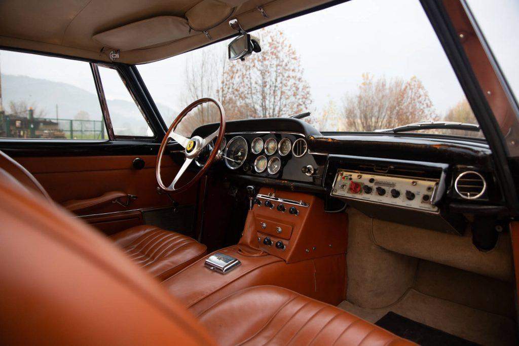 1962 Ferrari 250 GTE police car interior
