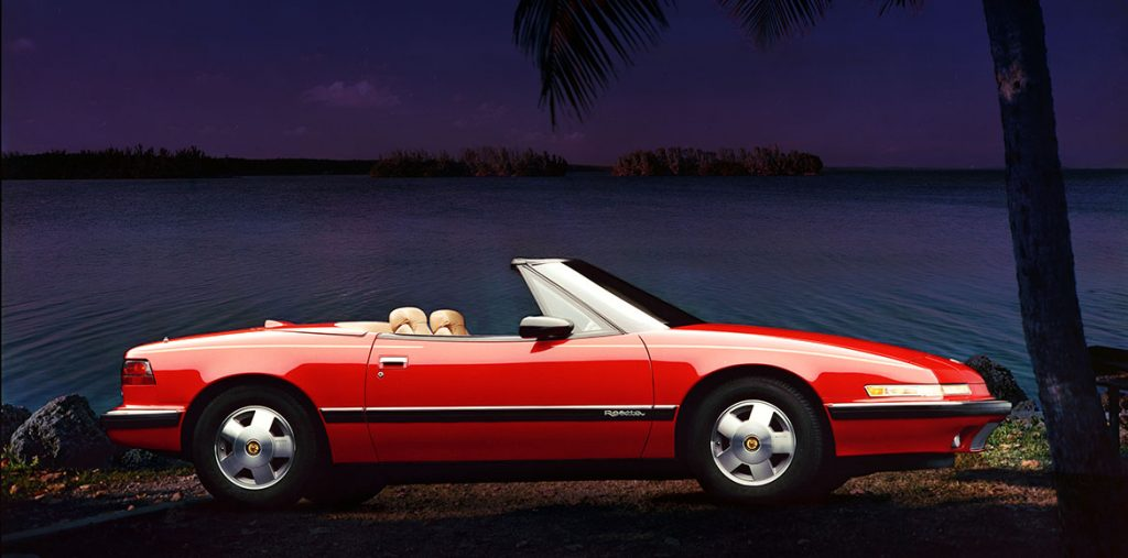 Red Convertible 1990 Buick Reatta