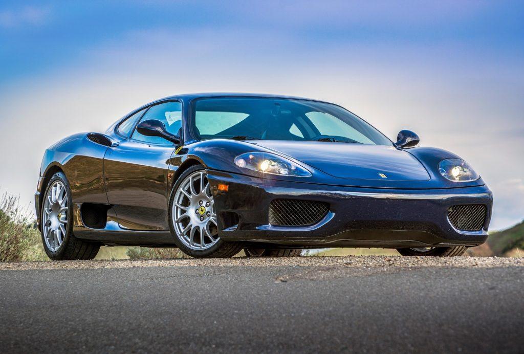 Dark blue 2003 Ferrari 360 Modena coupe