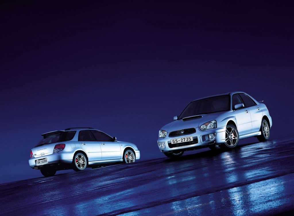 2005 Subaru Impreza WRX sedan and wagon