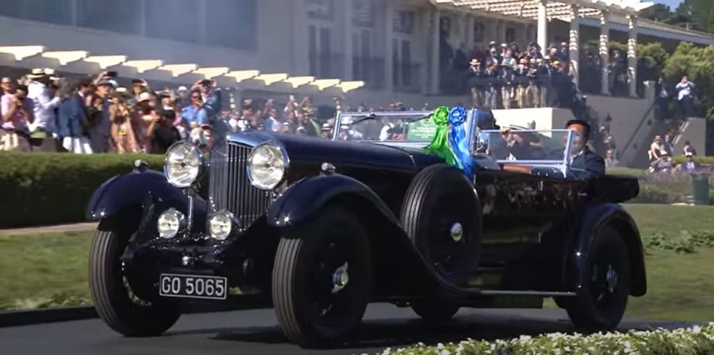 1931 bentley at Concours d'Elegance