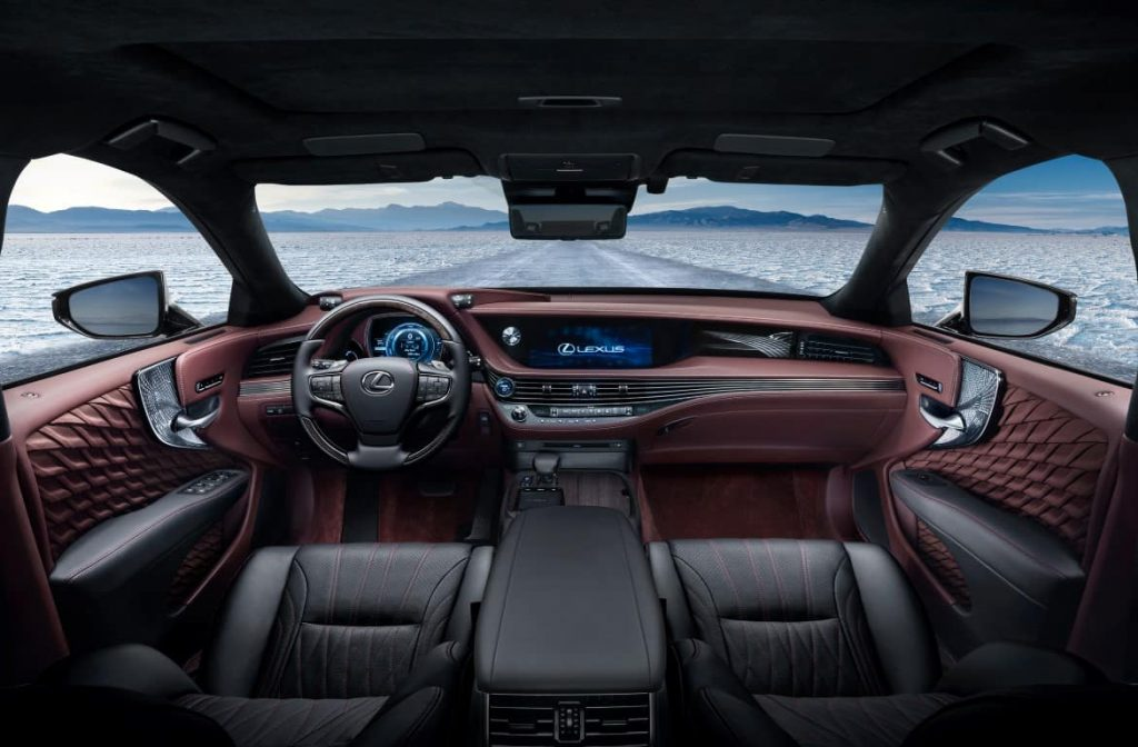 Lexus LS luxury sedan stunning interior