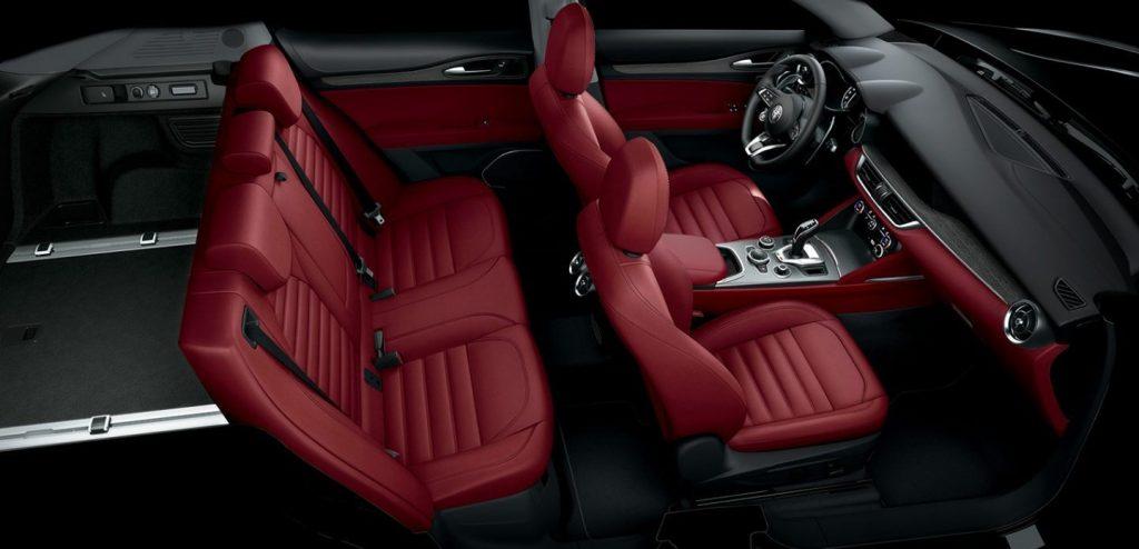 2020 Alfa Romeo Stelvio seat layout