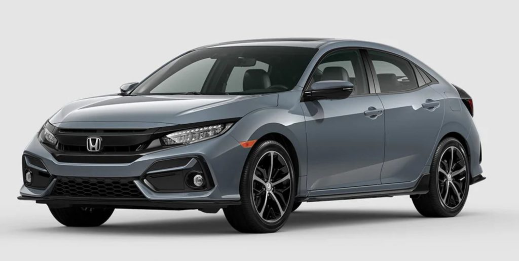 Sonic Gray Pearl 2020 Civic Hatchback