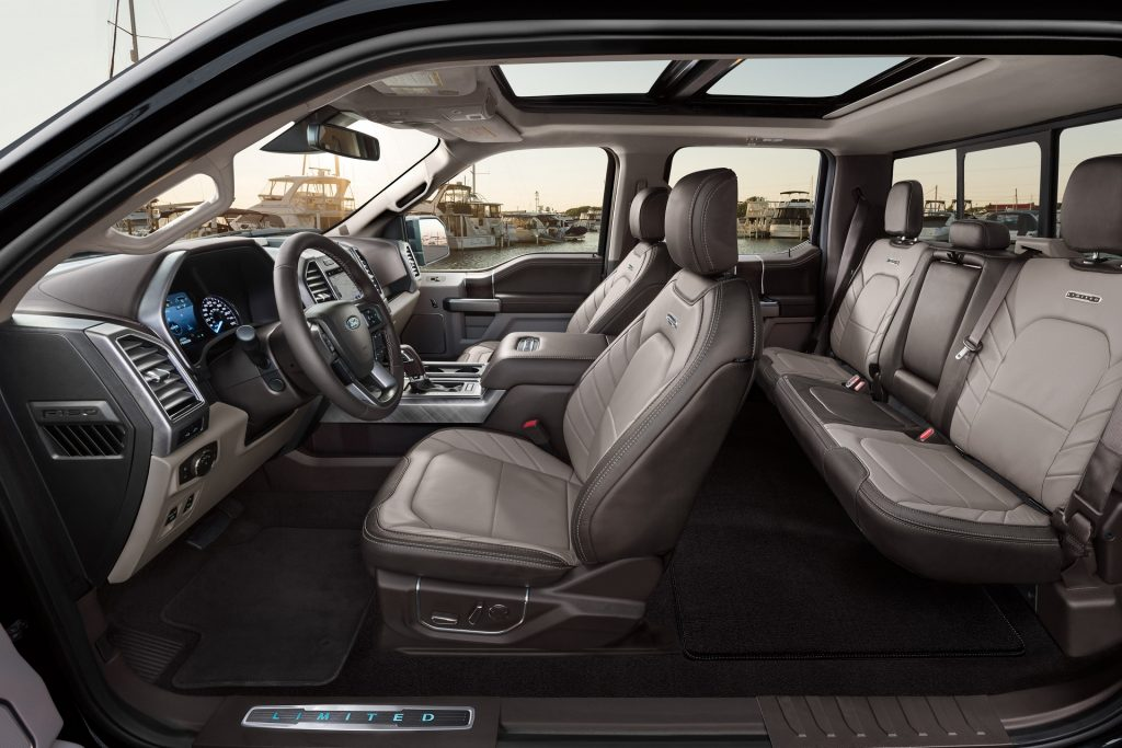 2020 Ford F-150 Limited pickup truck interior