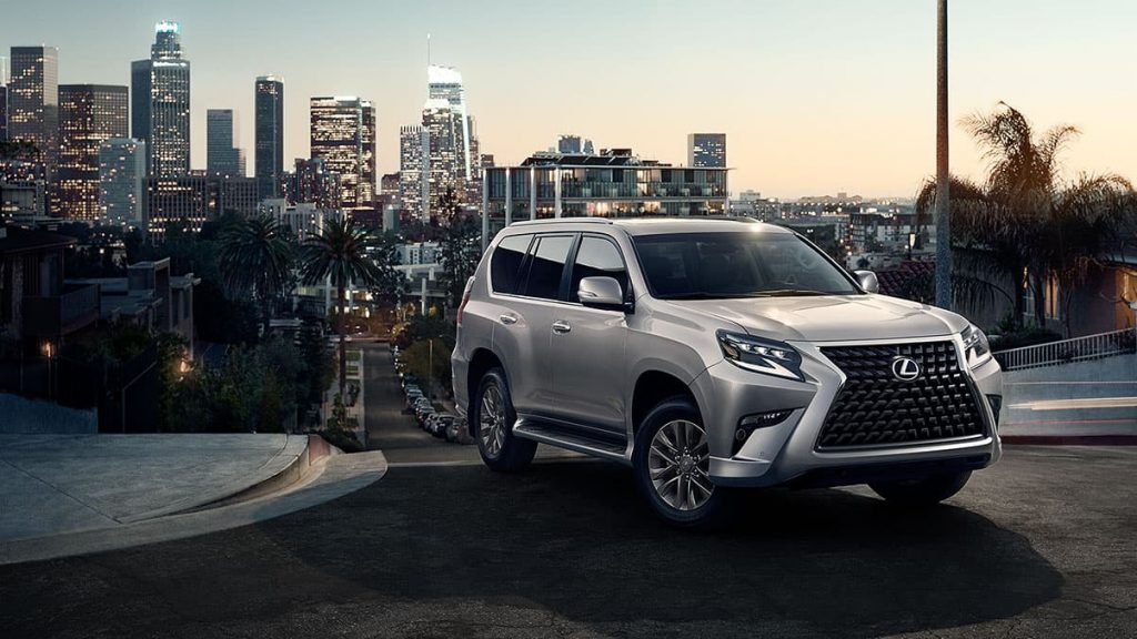 2020 Lexus GX 460 with city scape in the background