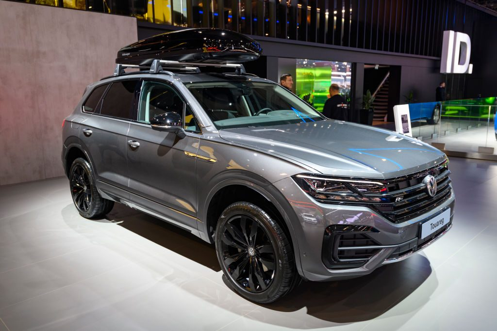 Volkswagen Touareg SUV on display at Brussels Expo