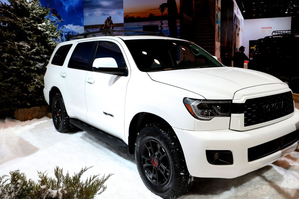 2020 Toyota Sequoia TRD Pro is on display at the 111th Annual Chicago Auto Show at McCormick Place