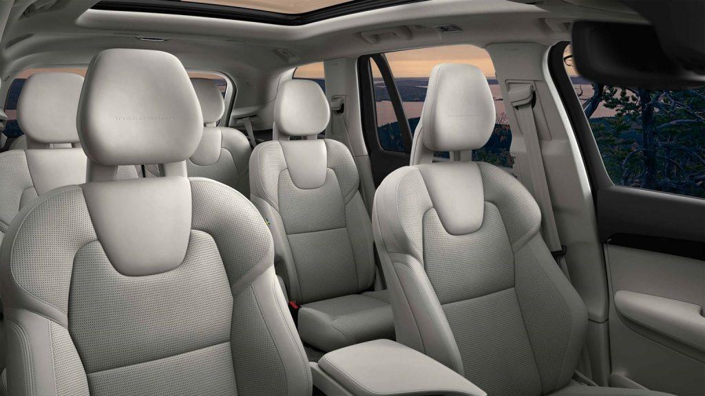 2020 Volvo XC90 6-seat layout