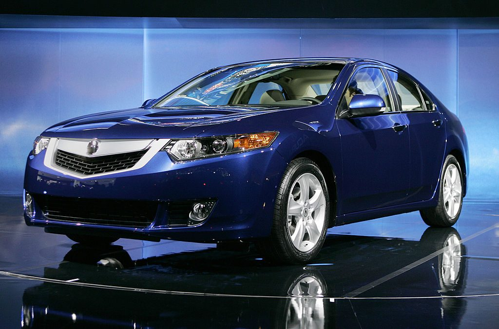 The 2009 Acura TSX is unveiled on March 19, 2008 at the New York International Auto Show