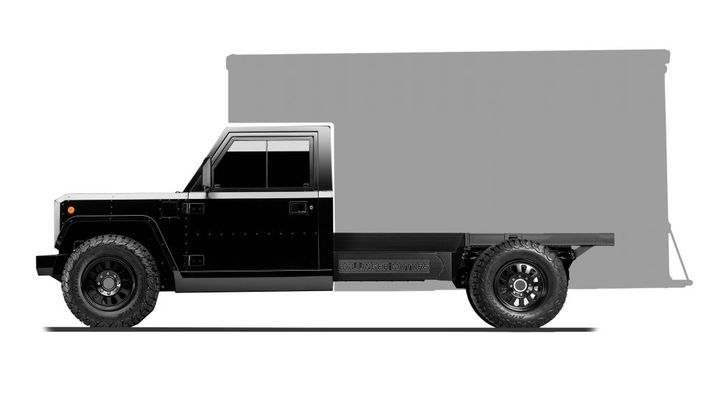 Box Truck Configuration of Bollinger B2 Chassis Cab