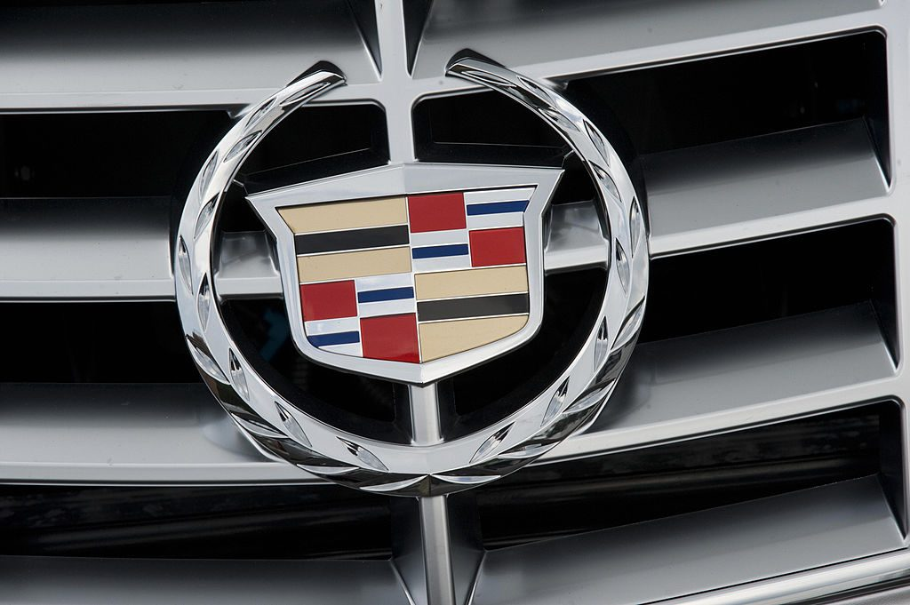 A Cadillac emblem on a car