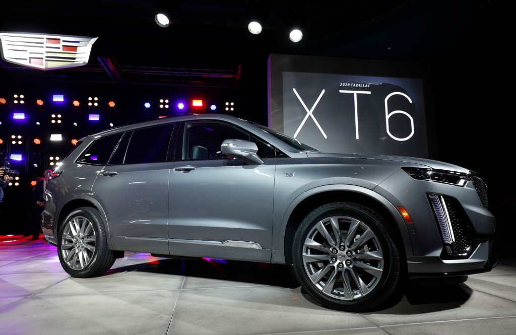 The General Motors Cadillac XT6 three-row crossover SUV is revealed at the Garden Theater