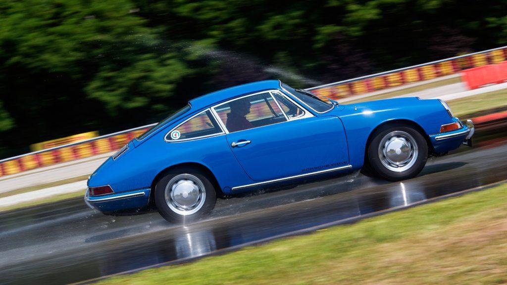 Classic Porsche 911 tire testing