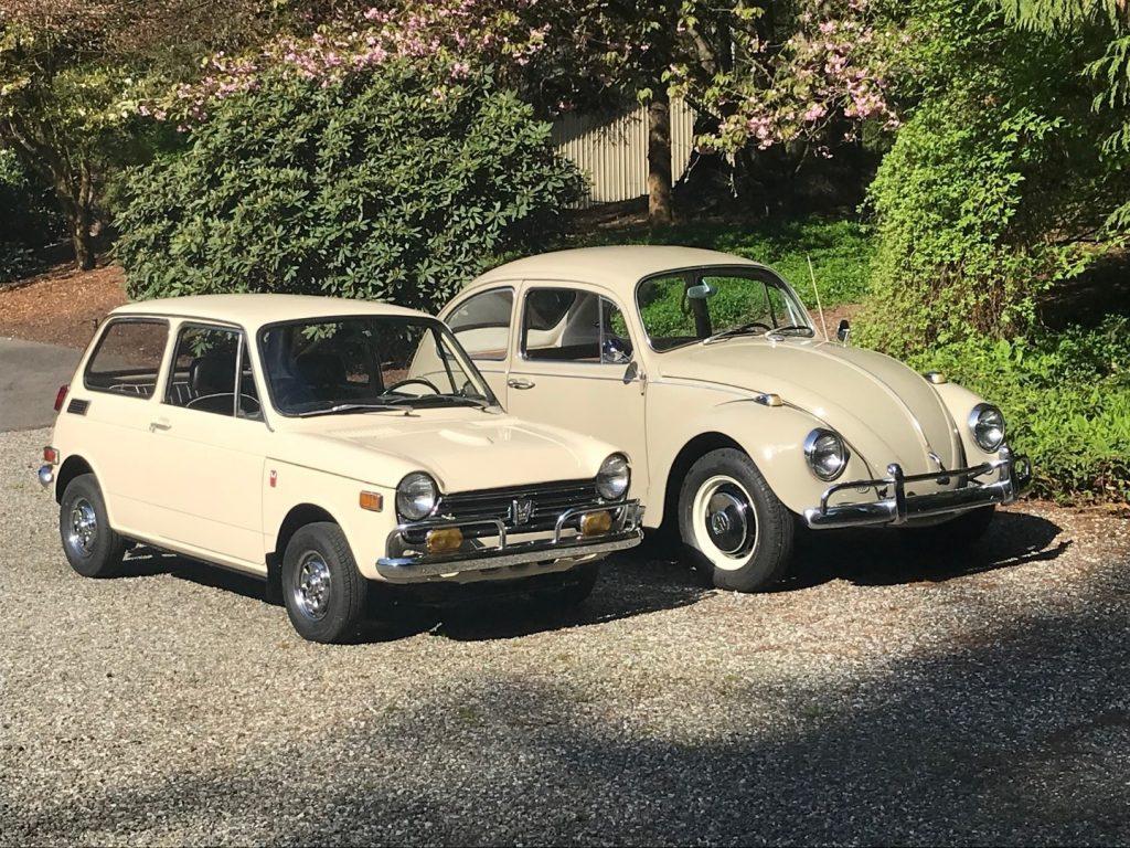 Classic VW Beetle and 1970 Honda N600