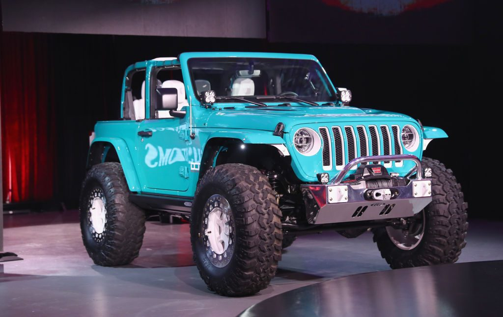 A custom Jeep Wrangler on the set of a TV show