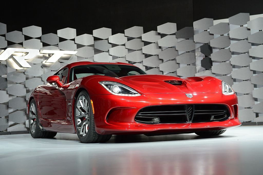 The new Dodge Viper SRT is on display during the first day of press previews at the New York International Automobile Show