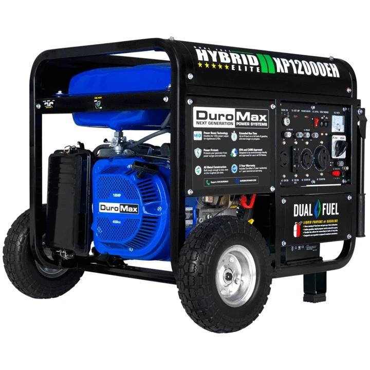 DuroMax XP12000EH Dual-Fuel Gas Propane Generator