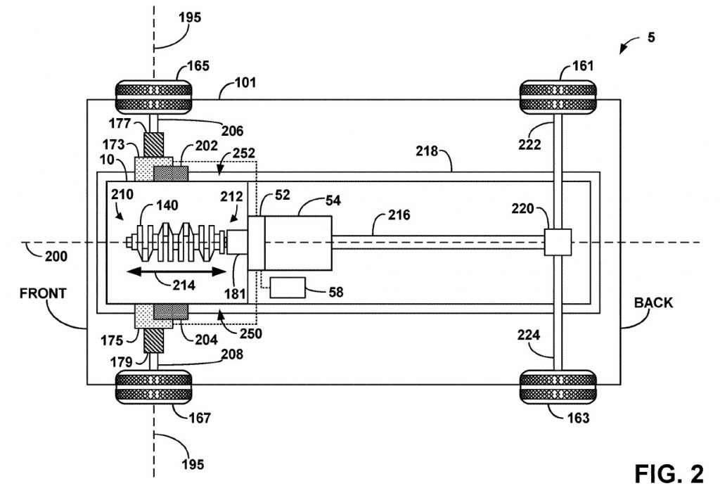 Ford Mustang hybrid patent diagram