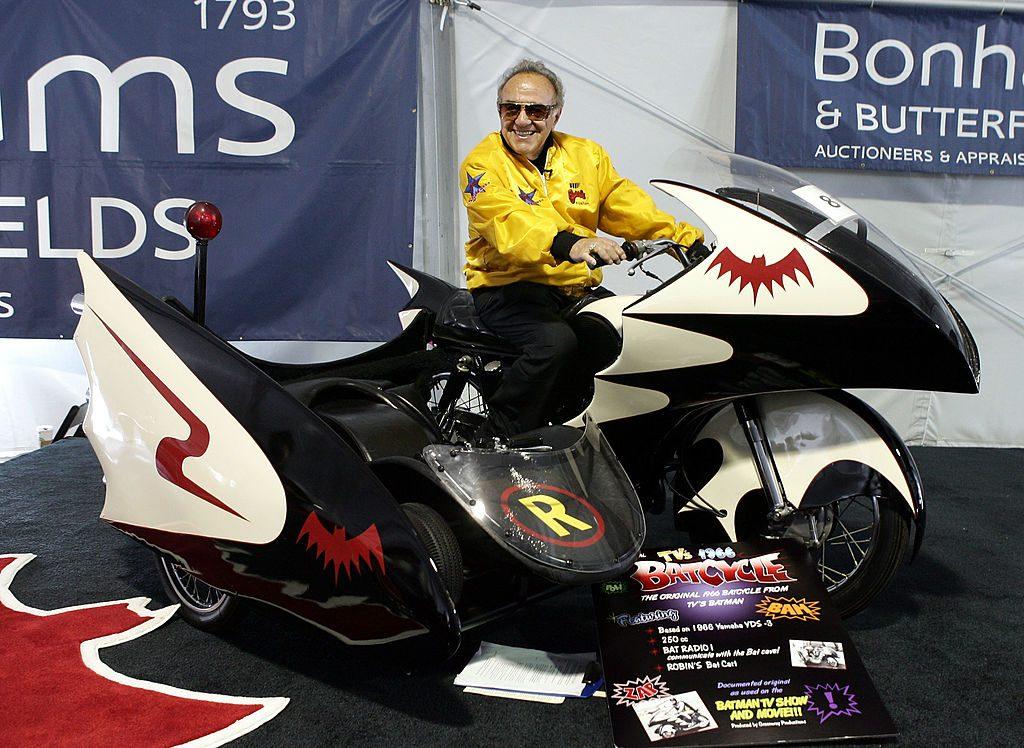George Barris on the Batcycle