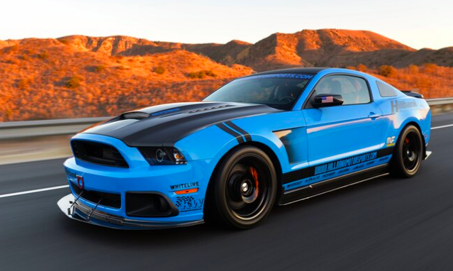Grabber Blue ford mustang is a modified American