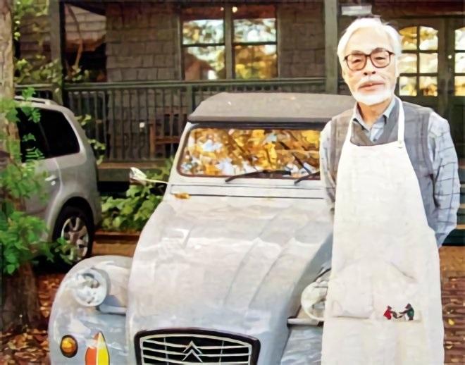 Hayao Miyazaki and his 1987 Citroen 2CV 6 Grey Special
