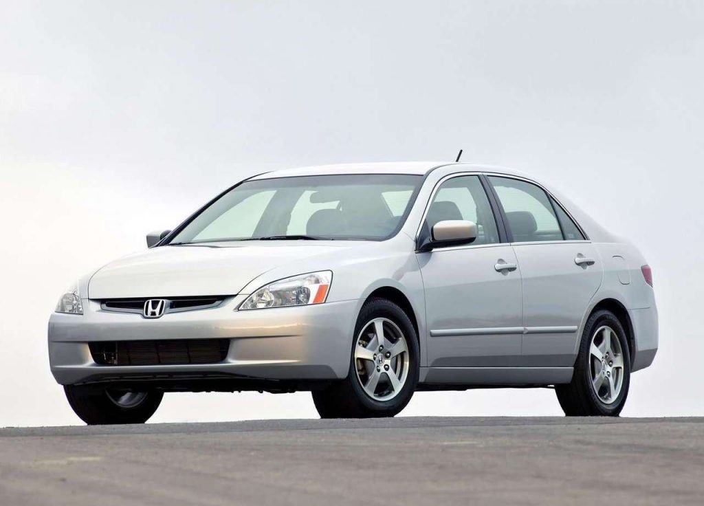 a silver 2006 Honda Accord parked