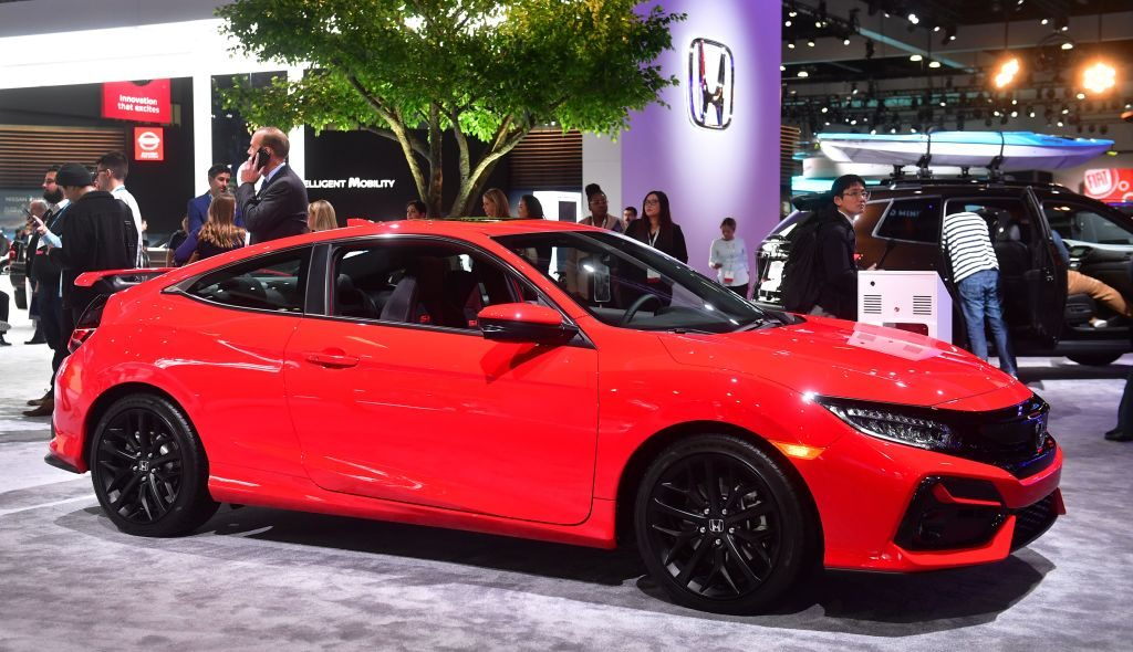 The new Honda Civic Si on display at the 2019 Los Angeles Auto Show