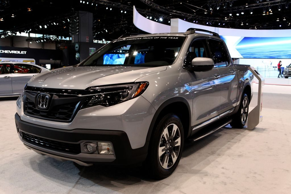 A new Honda Ridgeline on display