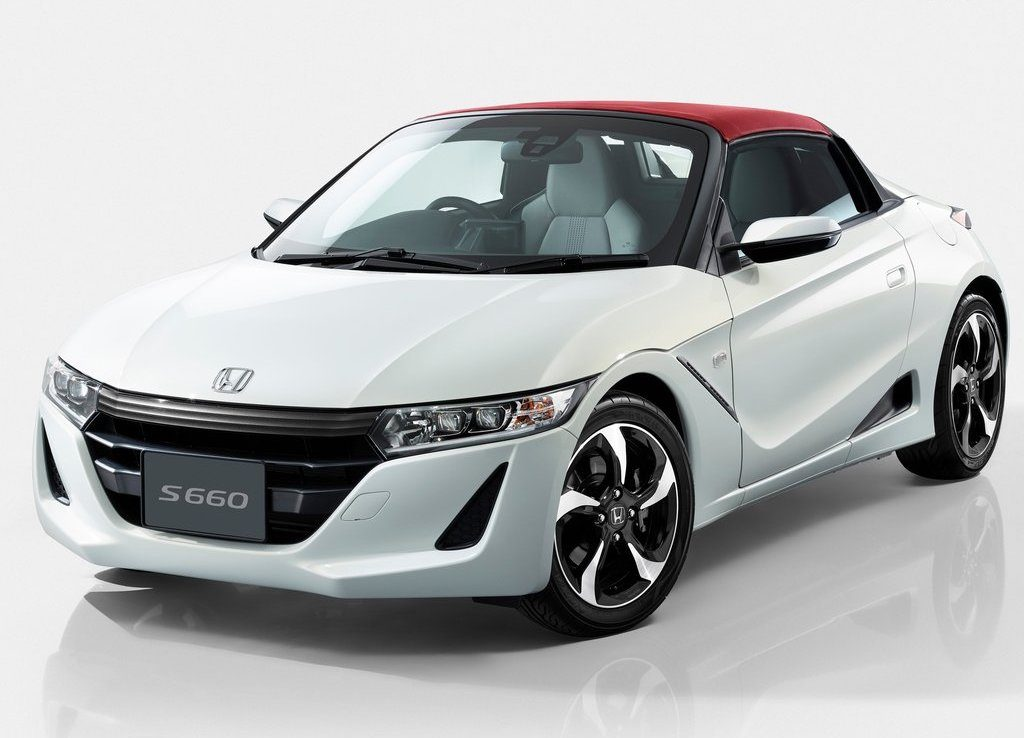 White 2020 Honda S660 with a red roof