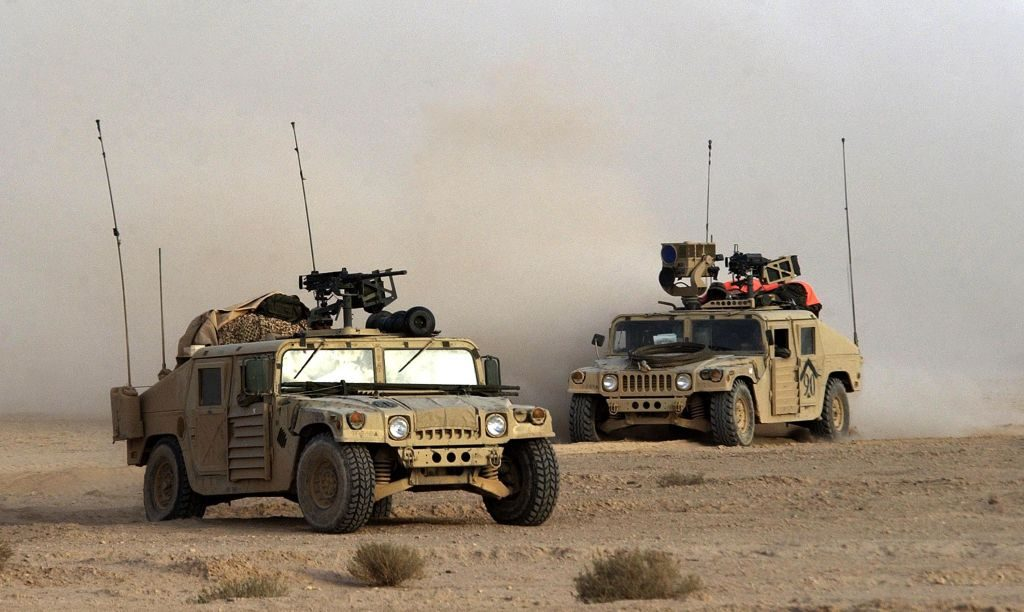 Two Humvee Units