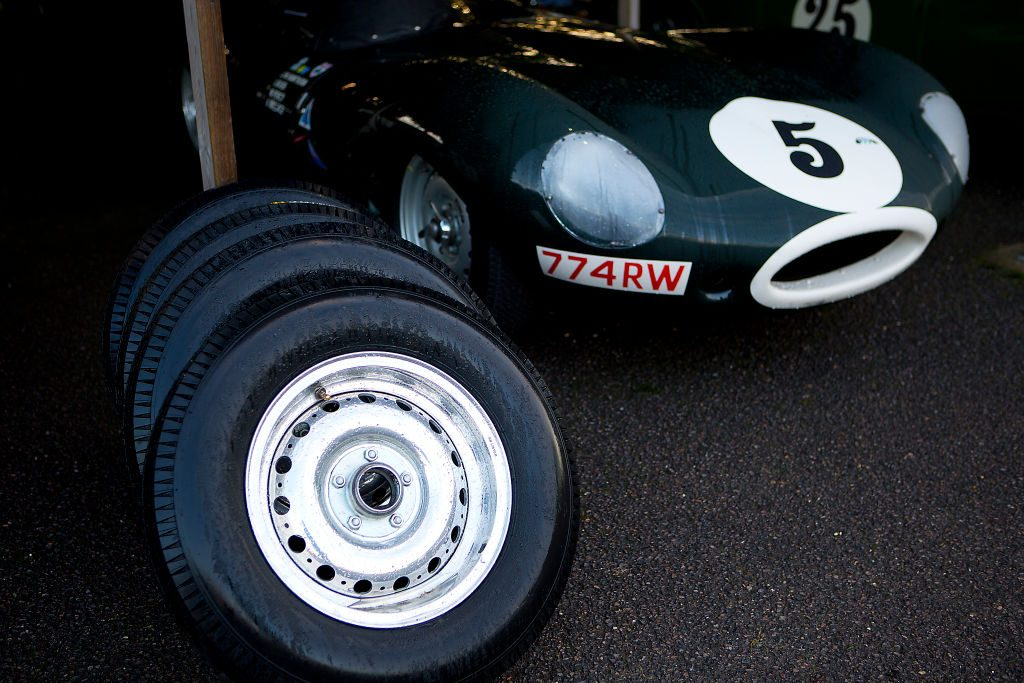 Jaguar D-type spare wheels and tires