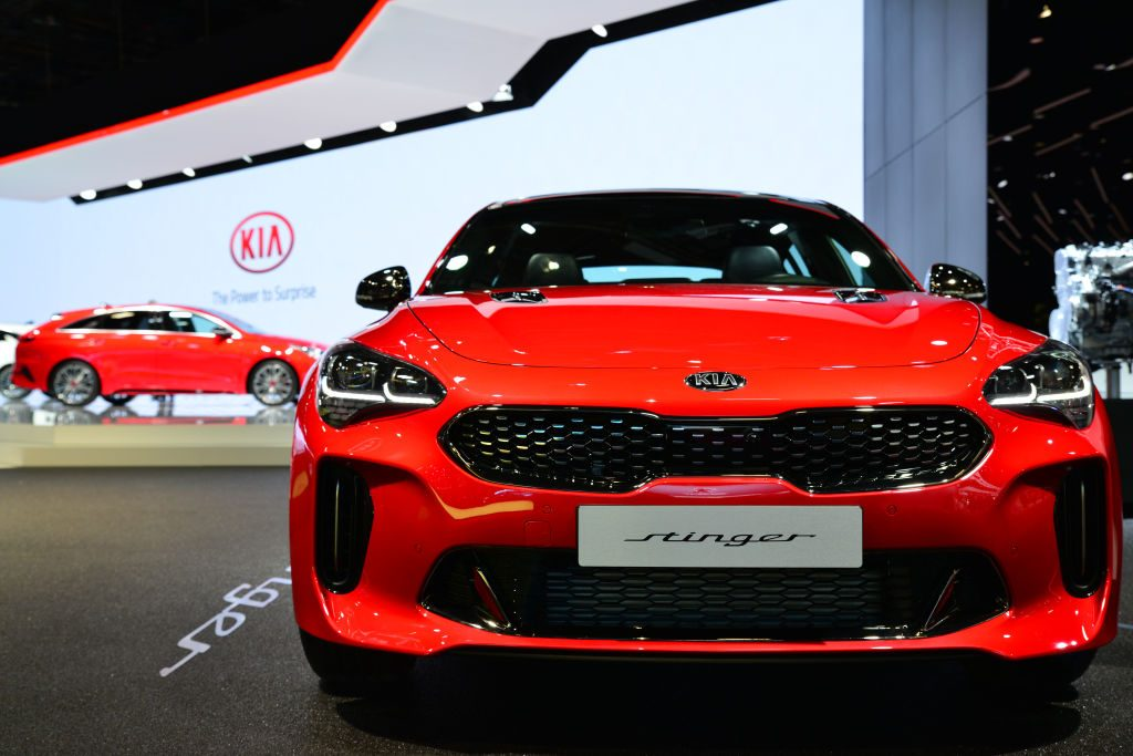 New Kia Stinger during Mondial Paris Motor Show 2018 in Paris, France