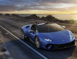 Blue Lamborghini Spyder