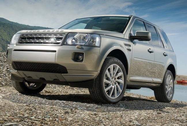 a Land Rover Freelander parked off-road