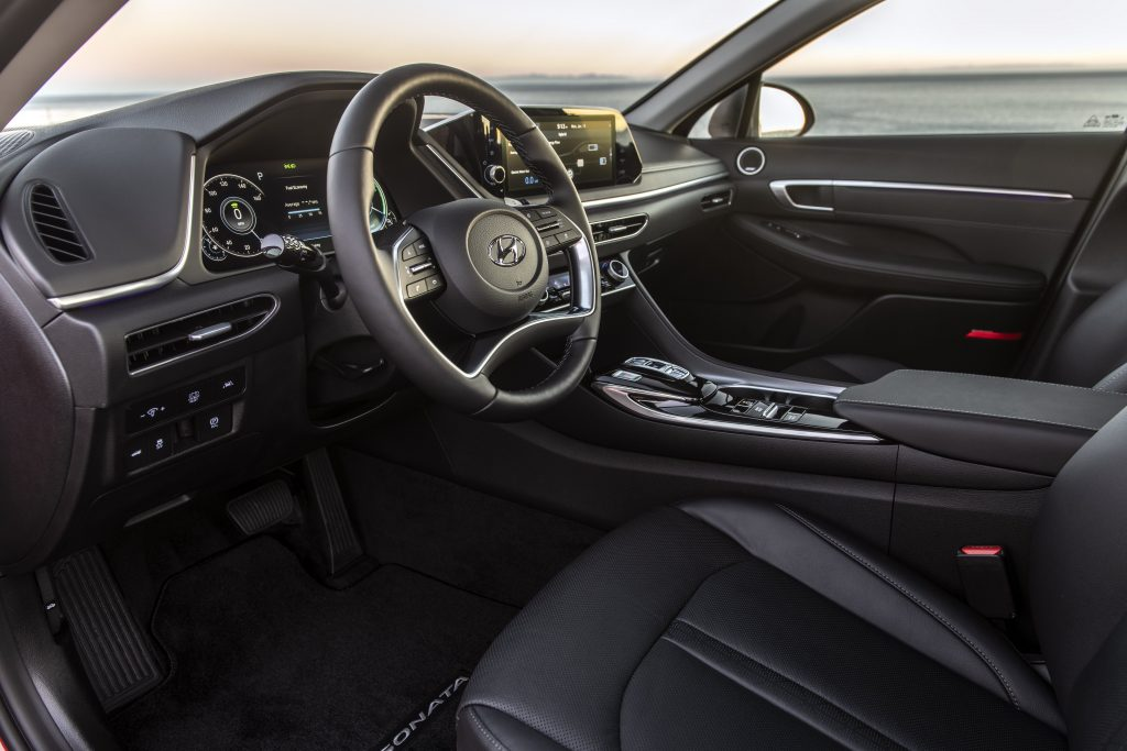 interior of the 2020 Hyundai Sonata hybrid