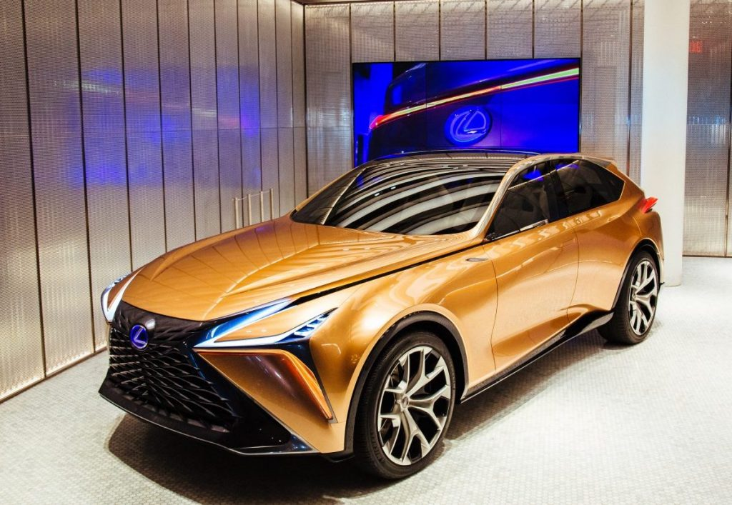 Lexus LF-1 Limitless crossover SUV concept in a gallery