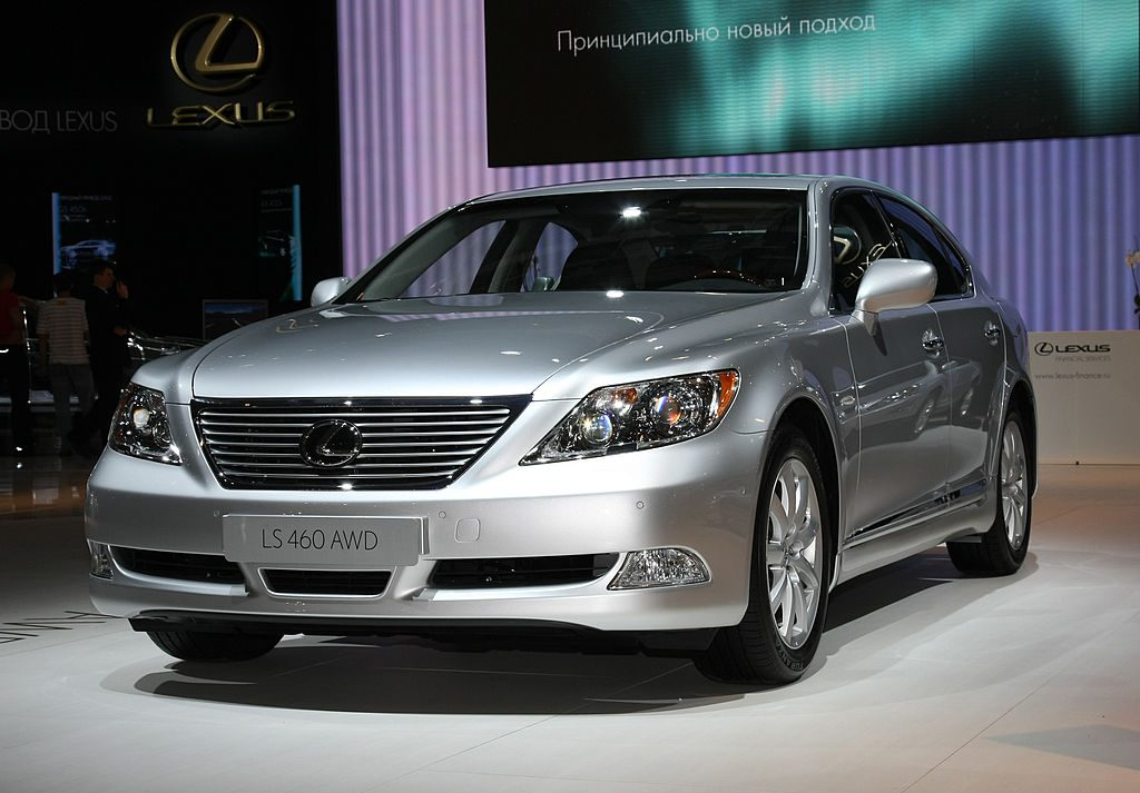 The Lexus LS 460 AWD is displayed during its World premier at 2008 Moscow International Automobile Exhibition (MIMS)