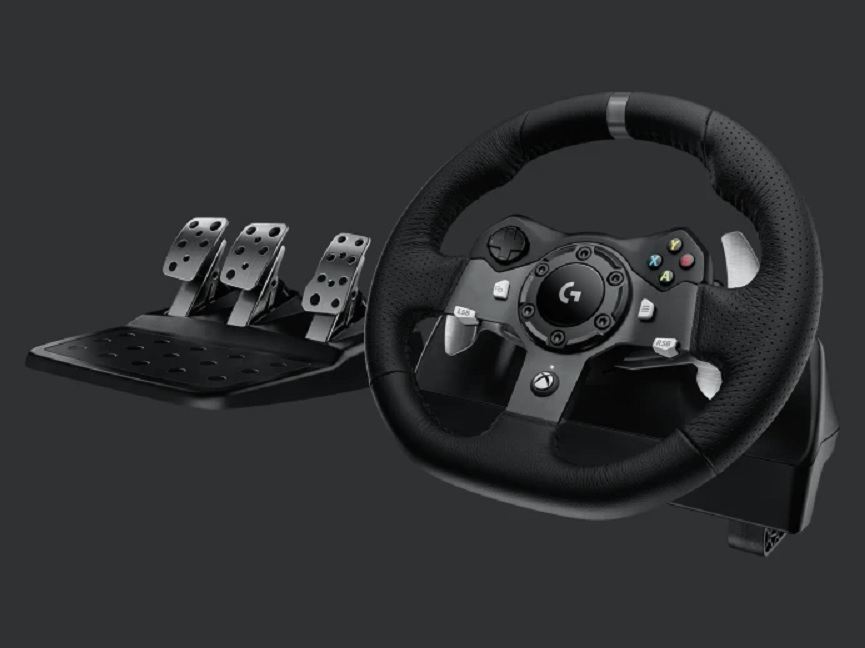 Logitech G920/G29 virtual racing steering wheel and pedals