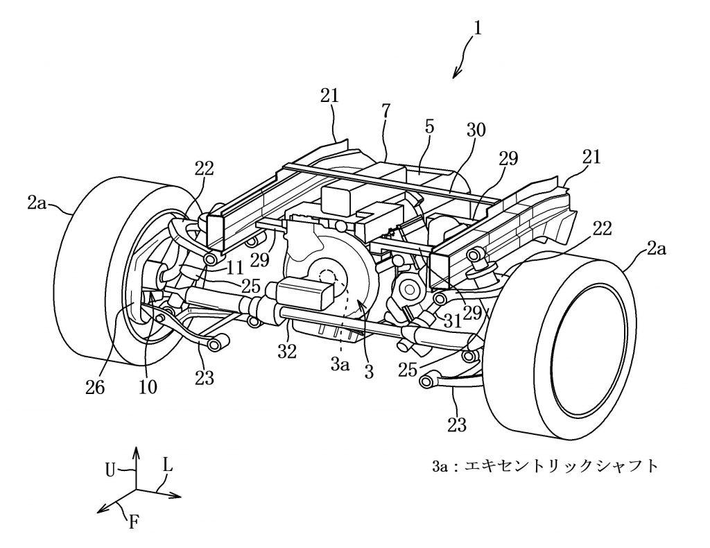 Mazda rotary hybrid patent drawing