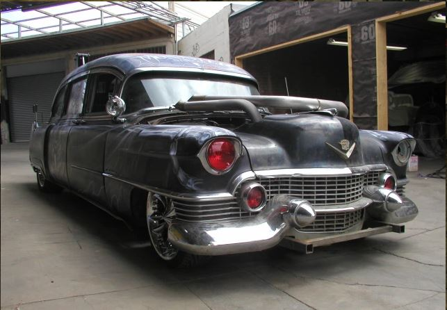 Cadillac hearse used in Monster Garage