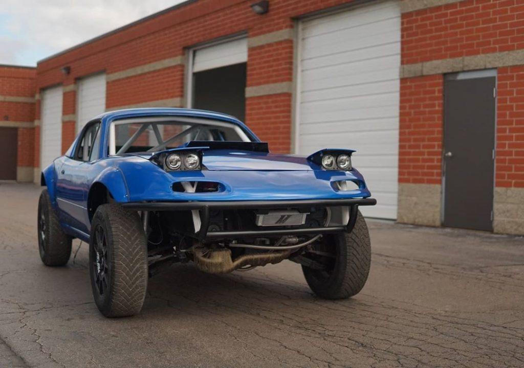 NA Mazda Miata with Subaru WRX drivetrain