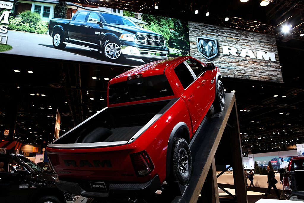 2016 RAM 1500 truck is on display at the 108th Annual Chicago Auto Show