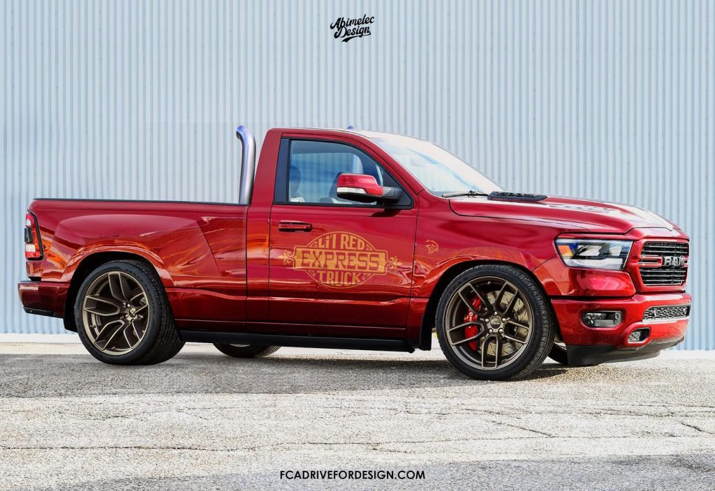 Ram Pickup single cab short bed rendering | Abimelec Design