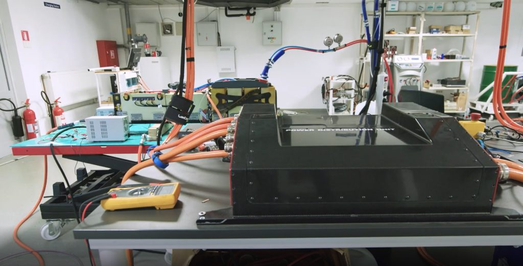 Rimac's electric car battery test equipment