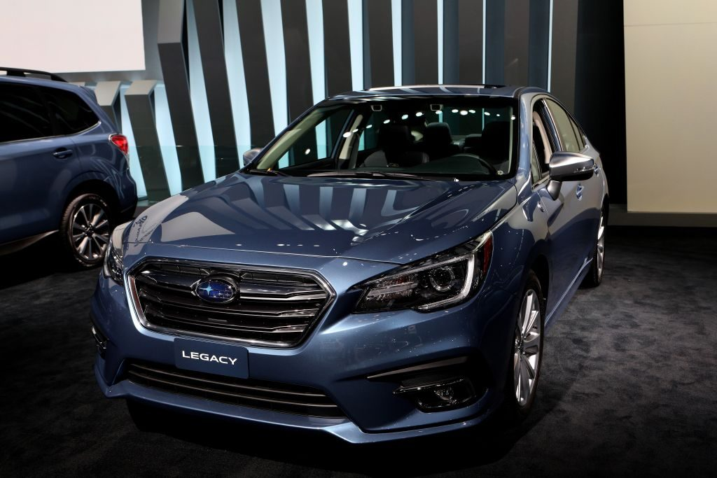 2018 Subaru Legacy is on display at the 110th Annual Chicago Auto Show at McCormick Place