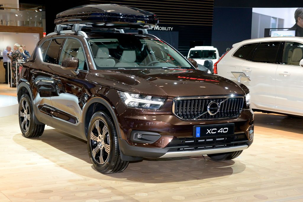 The Volvo XC40 is exposed at the 97th Brussels Motor Show