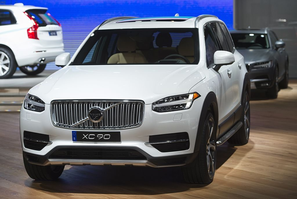 The Volvo XC90 SUV is seen during the 2017 North American International Auto Show