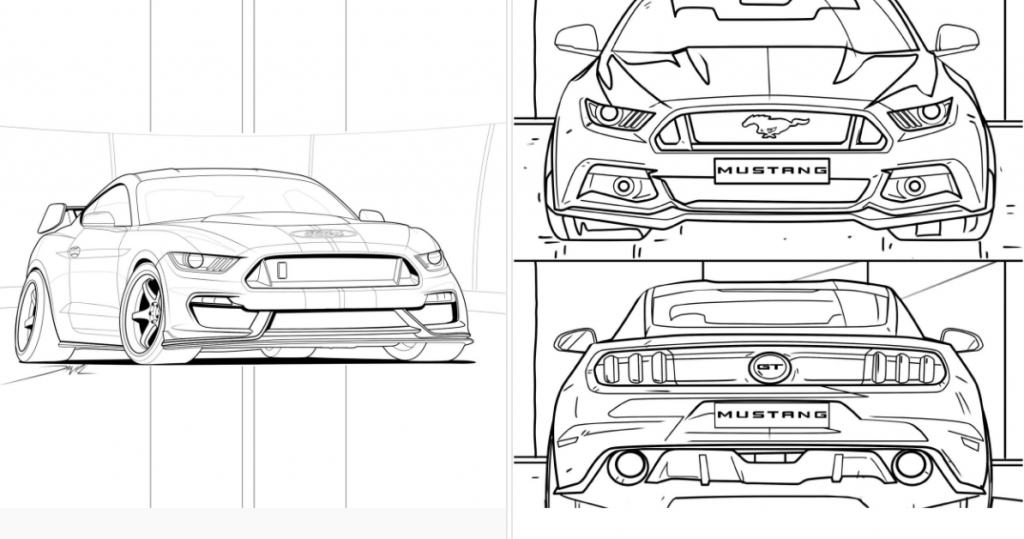 Audi and Mercedes release coloring pages to battle quarantine ... | 539x1024