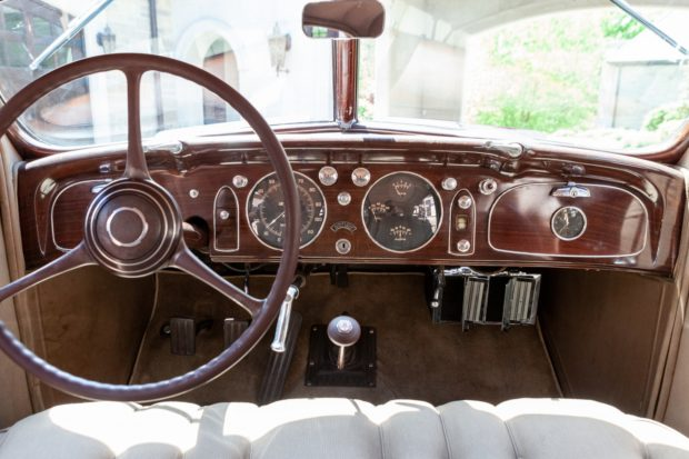1935 Chrysler Imperial Airflow Instrumentation at Bringatrailer Auction